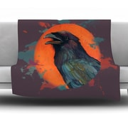 KESS InHouse Raven Sun Alternate by Lydia Martin Fleece Throw Blanket; 40'' H x 30'' W x 1'' D