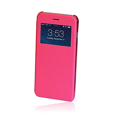 Gel Grip Iphone 6 Plus Flip Case with Viewing Window, Pink