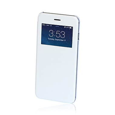 Gel Grip Iphone 6 Plus Flip Case with Viewing Window, White