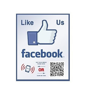 Shopping Wall LUOF003-1 QR Code Stickers, Like Us On Facebook