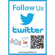 Shopping Wall QR Code Stickers Follow Us on Twitter Social Media