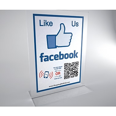 Shopping Wall T-Shape Stand Facebook with Social Media Sticker