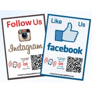 Shopping Wall QR LUOF-001-2 Code Stickers, Facebook, Instagram, Social Media, 2/Set