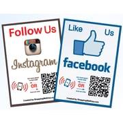 Shopping Wall QR LUOF-001-2 Code Stickers, Facebook, Instagram, Social Media, 2/Set