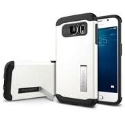 Spigen – Étuis Slim Armor pour Galaxy S6 de Samsung, blanc étincelant