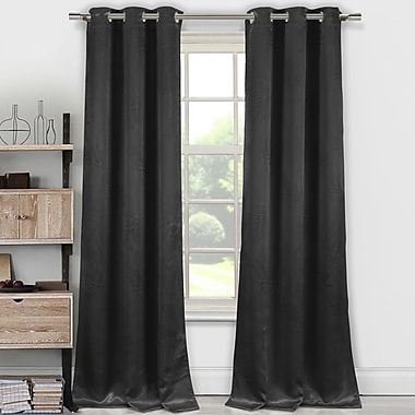DR International Tegan Blackout Thermal Curtain Panels (Set of 2); Black