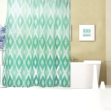 Dainty Home Geo Texture Shower Curtain Set