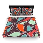 KESS InHouse ''Retro Swirl'' Woven Comforter Duvet Cover; Twin