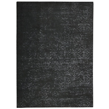 Calvin Klein Rugs Maya Labradorite Hand Woven Wool Black Area Rug; Rectangle 7'6'' x 10'6''