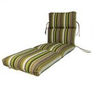 Comfort Classics Channeled Outdoor Sunbrella Chaise Cushion