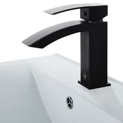 Vigo Satro Single Lever Basin Bathroom Faucet, Matte Black