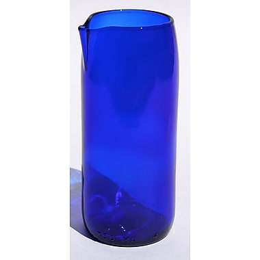 Wine Punts Flat Bottom Wine Carafe; Blue