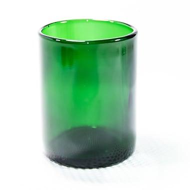 Wine Punts Flat Bottom Wine Tumblers (Set of 4); Green