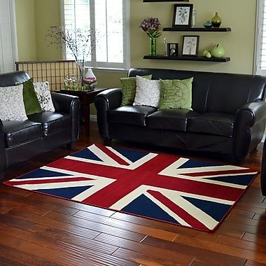 DonnieAnn Company American Patriot Flag of British Union Jack Area Rug