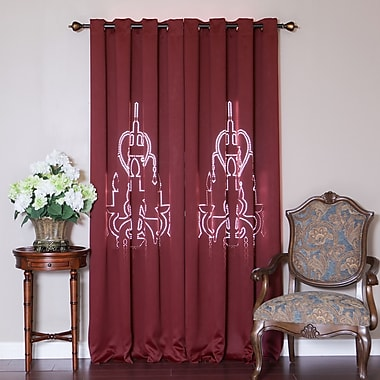 Chandelier Graphic Print & Text Blackout Thermal Grommet Curtain Panels (Set of 2)