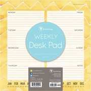 "TF Publishing Citrus Weekly Desk Pad, 8.5"" x 8.5"""