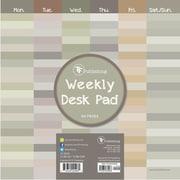 "TF Publishing Shades Weekly Desk Pad Calendar, 8.5"" x 8.5"""