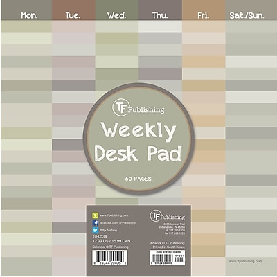 TF Publishing Shades Weekly Desk Pad Calendar, 8.5
