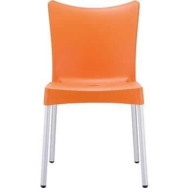 Siesta Exclusive Juliette Armless Stacking Chair; Orange