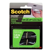 "Scotch™ Indoor Fasteners, 3/4"" x 18"", Black, 1 Set/Pack"