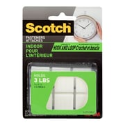 "Scotch™ Indoor Fasteners Squares, 7/8"" x 7/8"", White, 12/Pack"