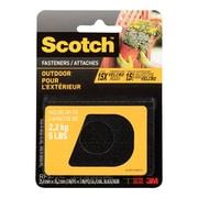 Scotch™ - Attaches pour l'extérieur, 1 po x 3 po, noir, paq./2