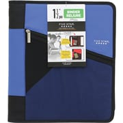 "Five Star® 1-1/2"" Stash Zipper Binder, Assorted"