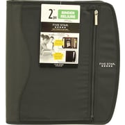 "Five Star® 2"" Zipper Binder, Black"