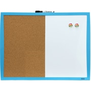 "Quartet® Plastic Frame Combination Board, Assorted, 17"" x 23"""
