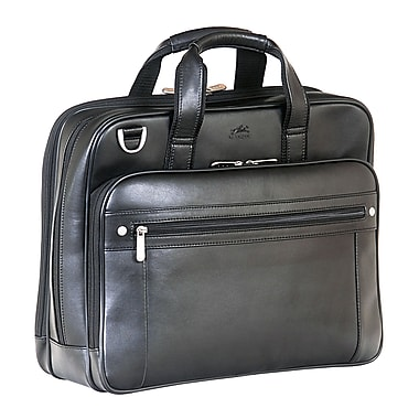 Mancini Double Compartment Business Briefcase for 15.6