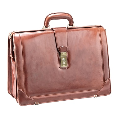 Mancini Luxurious Italian Leather Briefcase for 17