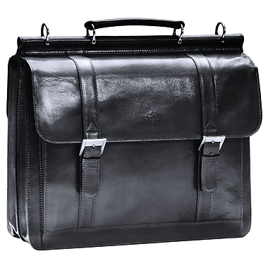Mancini Luxurious Italian Leather Briefcase for 15.6