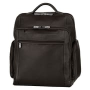 "Mancini Leather Backpack for 15.6"" Laptop Computer, Black"
