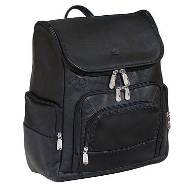 Mancini Backpack for Laptop and Tablet, Black
