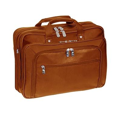 Manicini - Mallette à compartiment double pratique pour la douane, pour ordinateur portatif et tablette, cognac