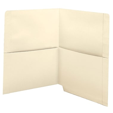 Medical Arts Press® End-Tab Folders with Twin 1/2 Pockets; 11 Point, 50/Box