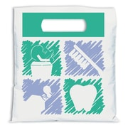Medical Arts Press® Dental Non-Personalized Small 2-Color Supply Bags; Dental Graphic Squares