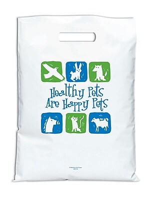 Medical Arts Press®Veterinary Non-Personalized 2-Color Jumbo Supply Bags; Healthy Pets/Happy Pets