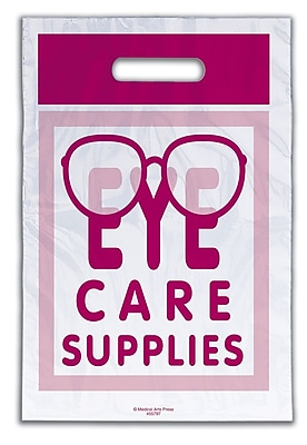 Medical Arts Press® Eye Care Non-Personalized 1-Color Supply Bags; 9x13