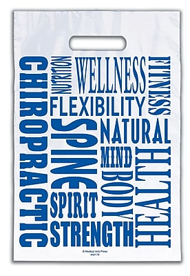 Medical Arts Press® Chiropractic Non-Personalized 1-Color Supply Bags; 9x13