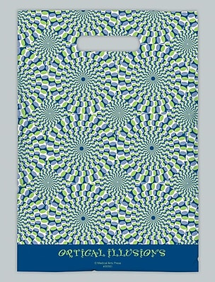 Large Scatter-Print Supply Bags, Green and Blue