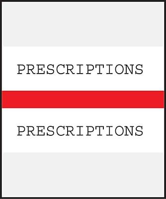 Medical Arts Press® Standard Preprinted Chart Divider Tabs; Prescriptions, Red