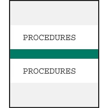 Medical Arts Press® Standard Preprinted Chart Divider Tabs; Procedures, Dark Green