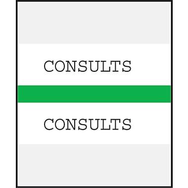 Medical Arts Press® Standard Preprinted Chart Divider Tabs; Consults, Green