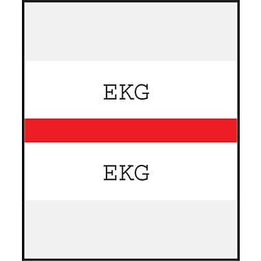 Medical Arts Press® Standard Preprinted Chart Divider Tabs; EKG, Red
