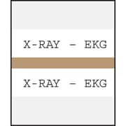 Medical Arts Press® Standard Preprinted Chart Divider Tabs; X-Ray®EKG, Tan