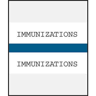 Medical Arts Press® Standard Preprinted Chart Divider Tabs; Immunization, Dark Blue