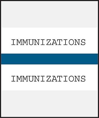 Medical Arts Press® Standard Preprinted Chart Divider Tabs; Immunization, Dark Blue