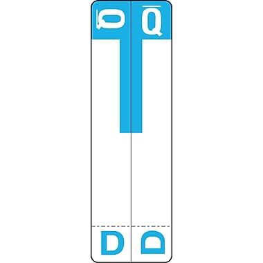 Medical Arts Press® D and Q Name Labels; Light Blue, Smead®® Compatible