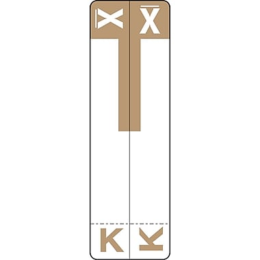 Medical Arts Press® K and X Name Labels; Light Brown, Smead®® Compatible